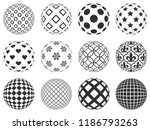 decorative balls with beautiful ... | Shutterstock .eps vector #1186793263