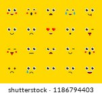 set of emoticons stickers ... | Shutterstock .eps vector #1186794403