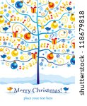 christmas and new year greeting ... | Shutterstock .eps vector #118679818