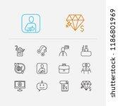 customer service icons set....
