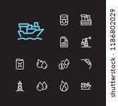 energy icons set. oil market...