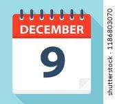 december 9   calendar icon  ... | Shutterstock .eps vector #1186803070