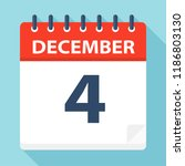 december 4   calendar icon  ... | Shutterstock .eps vector #1186803130