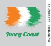 brush style color flag of ivory ... | Shutterstock .eps vector #1186803436