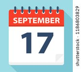 september 17   calendar icon  ... | Shutterstock .eps vector #1186803829
