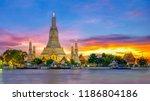 Wat Arun Temple At Sunset...