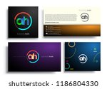 letter ah logotype with... | Shutterstock .eps vector #1186804330