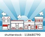 small business main street.... | Shutterstock .eps vector #118680790