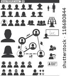 vector set web icons. people... | Shutterstock .eps vector #118680844