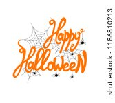 vector happy halloween... | Shutterstock .eps vector #1186810213