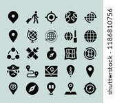 simple modern set of  map icons ... | Shutterstock .eps vector #1186810756