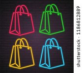 shopping bag icon different... | Shutterstock .eps vector #1186812889