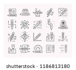 pencils set of vector icons.