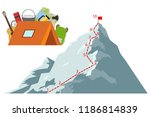 route climber. climber climb to ... | Shutterstock .eps vector #1186814839