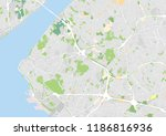 vector city map of east central ... | Shutterstock .eps vector #1186816936