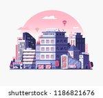 modern city street landscape... | Shutterstock .eps vector #1186821676