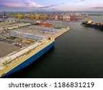 aerial view of logistics... | Shutterstock . vector #1186831219