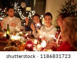 winter holidays and people... | Shutterstock . vector #1186831723