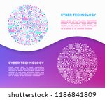 cyber technology concept in...   Shutterstock .eps vector #1186841809