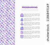 programming concept with thin... | Shutterstock .eps vector #1186845169