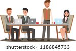 business team meeting in office.... | Shutterstock .eps vector #1186845733