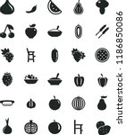 solid black flat icon set a... | Shutterstock .eps vector #1186850086