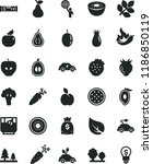 solid black flat icon set... | Shutterstock .eps vector #1186850119