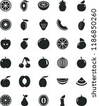 solid black flat icon set... | Shutterstock .eps vector #1186850260