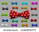 set of multi colored bow tie... | Shutterstock .eps vector #1186850479