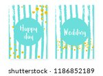 bridal shower card with dots... | Shutterstock .eps vector #1186852189