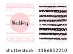 bridal shower set with dots and ... | Shutterstock .eps vector #1186852210