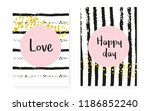 bridal shower set with dots and ... | Shutterstock .eps vector #1186852240