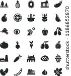 solid black flat icon set... | Shutterstock .eps vector #1186852870