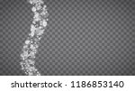 blizzard snowflakes on... | Shutterstock .eps vector #1186853140