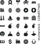 solid black flat icon set... | Shutterstock .eps vector #1186857460