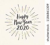 handmade style greeting card  ... | Shutterstock .eps vector #1186861309
