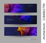 abstract molecules banners set...   Shutterstock .eps vector #1186861750