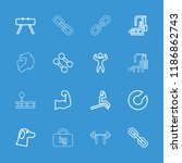 strength icon. collection of 16 ... | Shutterstock .eps vector #1186862743