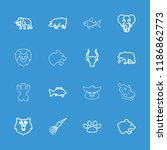 wildlife icon. collection of 16 ... | Shutterstock .eps vector #1186862773
