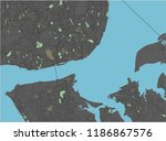 lisbon vector map with dark... | Shutterstock .eps vector #1186867576