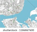colorful lisbon vector city map | Shutterstock .eps vector #1186867600