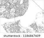 black and white vector city map ... | Shutterstock .eps vector #1186867609