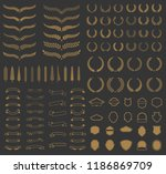 set of vector wreaths and... | Shutterstock .eps vector #1186869709