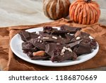 gourmet choclate bark with... | Shutterstock . vector #1186870669
