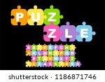 children's font in the... | Shutterstock .eps vector #1186871746