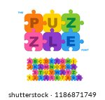 children's font in the... | Shutterstock .eps vector #1186871749
