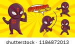 superhero character superheroes ... | Shutterstock .eps vector #1186872013