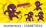 superhero character superheroes ... | Shutterstock .eps vector #1186872016