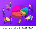 people in a team build a pay... | Shutterstock .eps vector #1186872760