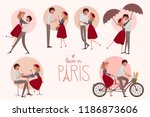 set of characters. love story... | Shutterstock .eps vector #1186873606
